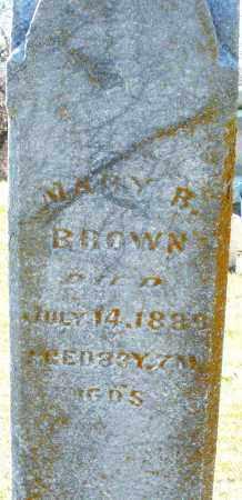 BROWN, MARY R. - Preble County, Ohio | MARY R. BROWN - Ohio Gravestone Photos