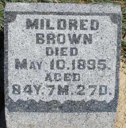 BROWN, MILDRED - Preble County, Ohio | MILDRED BROWN - Ohio Gravestone Photos