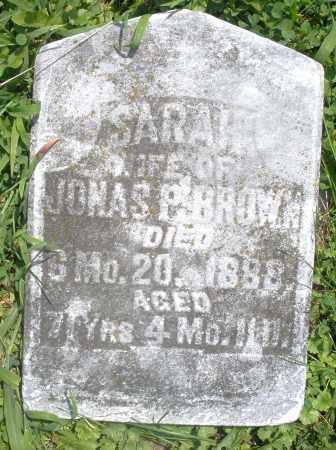 BROWN, SARAH - Preble County, Ohio   SARAH BROWN - Ohio Gravestone Photos
