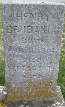 BRUBAKER, HENRY - Preble County, Ohio   HENRY BRUBAKER - Ohio Gravestone Photos