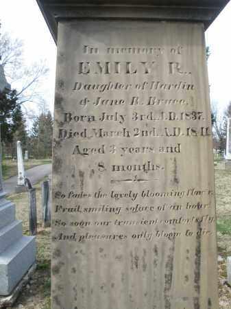 BRUCE, EMILY R. - Preble County, Ohio   EMILY R. BRUCE - Ohio Gravestone Photos