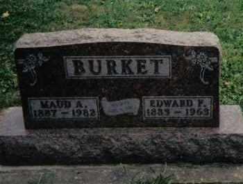 BURKET, EDWARD F. - Preble County, Ohio | EDWARD F. BURKET - Ohio Gravestone Photos