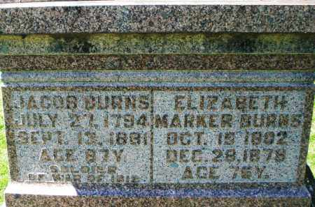 BURNS, ELIZABETH - Preble County, Ohio | ELIZABETH BURNS - Ohio Gravestone Photos