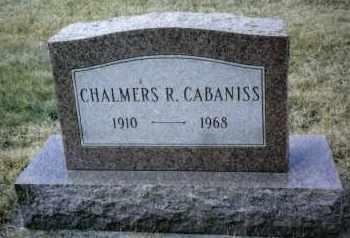 CABANISS, CHALMERS R. - Preble County, Ohio | CHALMERS R. CABANISS - Ohio Gravestone Photos