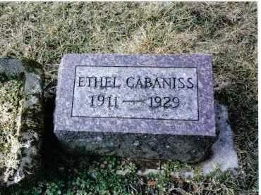 CABANISS, ETHEL - Preble County, Ohio | ETHEL CABANISS - Ohio Gravestone Photos