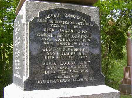CAMPBELL, SARAH CURRY - Preble County, Ohio | SARAH CURRY CAMPBELL - Ohio Gravestone Photos