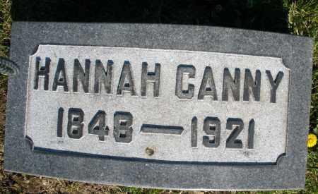 CANNY, HANNAH - Preble County, Ohio | HANNAH CANNY - Ohio Gravestone Photos