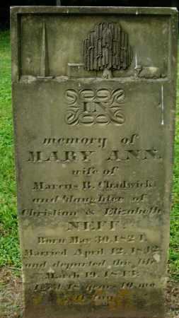 CHADWICK, MARY ANN - Preble County, Ohio | MARY ANN CHADWICK - Ohio Gravestone Photos