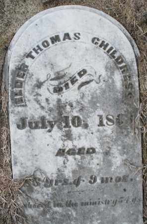 CHILDRESS, ELDER THOMAS - Preble County, Ohio | ELDER THOMAS CHILDRESS - Ohio Gravestone Photos
