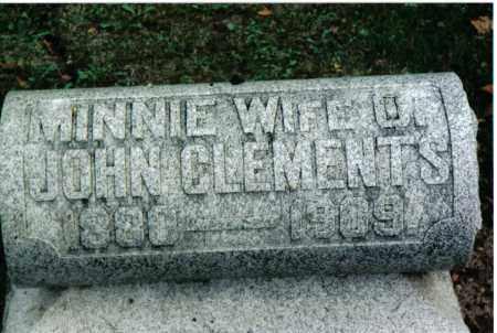 CLEMENTS, MINNIE - Preble County, Ohio   MINNIE CLEMENTS - Ohio Gravestone Photos