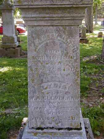 CLEVELAND, W.A. - Preble County, Ohio | W.A. CLEVELAND - Ohio Gravestone Photos