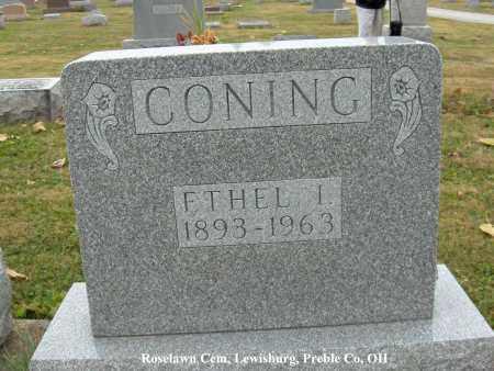CONING, ETHEL - Preble County, Ohio | ETHEL CONING - Ohio Gravestone Photos