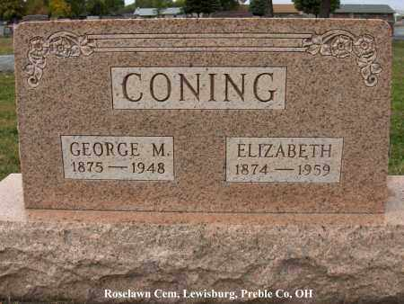 CONING, GEORGE - Preble County, Ohio | GEORGE CONING - Ohio Gravestone Photos