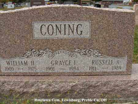 CONING, RUSSELL - Preble County, Ohio | RUSSELL CONING - Ohio Gravestone Photos