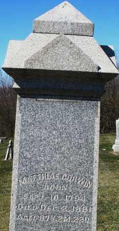 CORWIN, MATTHIAS - Preble County, Ohio | MATTHIAS CORWIN - Ohio Gravestone Photos