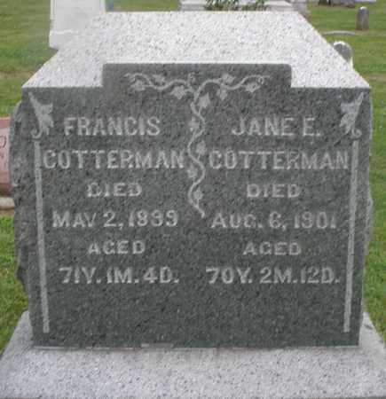 COTTERMAN, FRANCIS - Preble County, Ohio | FRANCIS COTTERMAN - Ohio Gravestone Photos