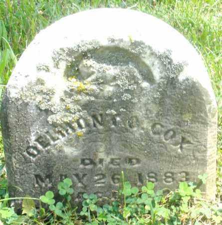 COX, DELMONIC O. ? - Preble County, Ohio | DELMONIC O. ? COX - Ohio Gravestone Photos