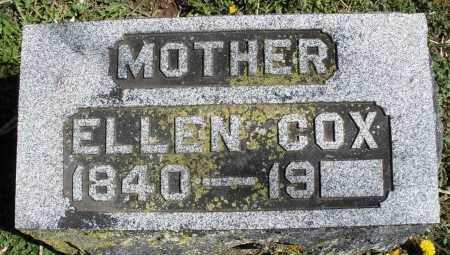COX, ELLEN - Preble County, Ohio | ELLEN COX - Ohio Gravestone Photos