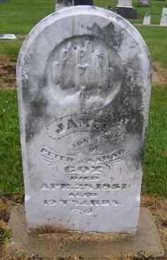 COX, JAMES - Preble County, Ohio   JAMES COX - Ohio Gravestone Photos