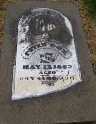 COX, PETER - Preble County, Ohio | PETER COX - Ohio Gravestone Photos