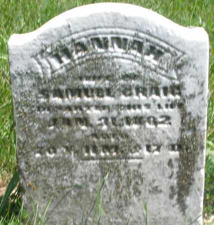 CRAIG, HANNAH - Preble County, Ohio | HANNAH CRAIG - Ohio Gravestone Photos