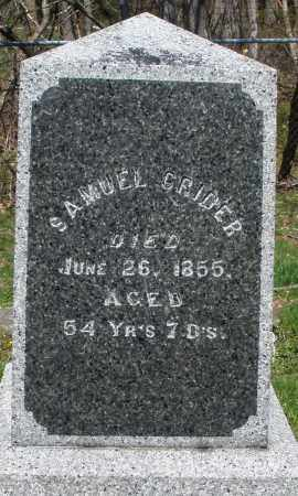 CRIDER, SAMUEL - Preble County, Ohio | SAMUEL CRIDER - Ohio Gravestone Photos