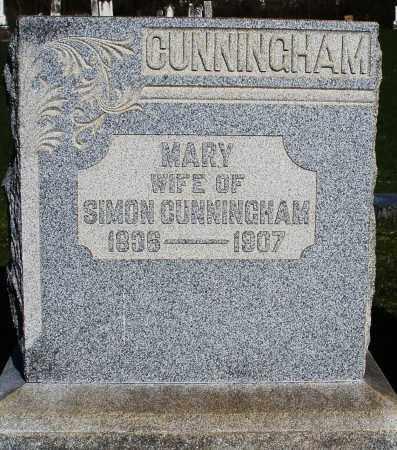 CUNNINGHAM, MARY - Preble County, Ohio | MARY CUNNINGHAM - Ohio Gravestone Photos