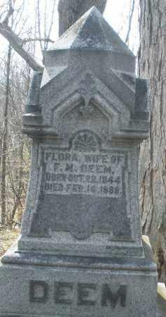 DEEM, FLORA - Preble County, Ohio | FLORA DEEM - Ohio Gravestone Photos