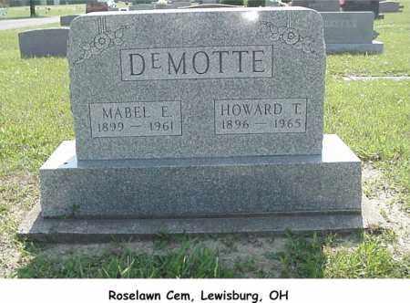 MTCASTLE DEMOTTE, MABEL - Preble County, Ohio | MABEL MTCASTLE DEMOTTE - Ohio Gravestone Photos