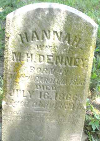 DENNEY, HANNAH - Preble County, Ohio   HANNAH DENNEY - Ohio Gravestone Photos