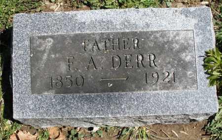 DERR, F.A. - Preble County, Ohio | F.A. DERR - Ohio Gravestone Photos