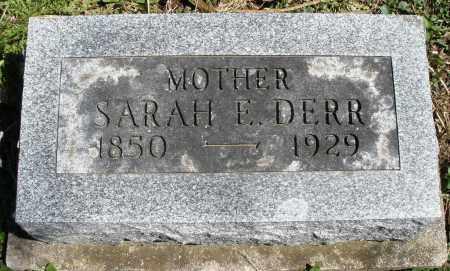 DERR, SARAH E. - Preble County, Ohio   SARAH E. DERR - Ohio Gravestone Photos
