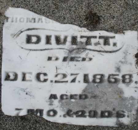 DIVITT, INFANT - Preble County, Ohio | INFANT DIVITT - Ohio Gravestone Photos