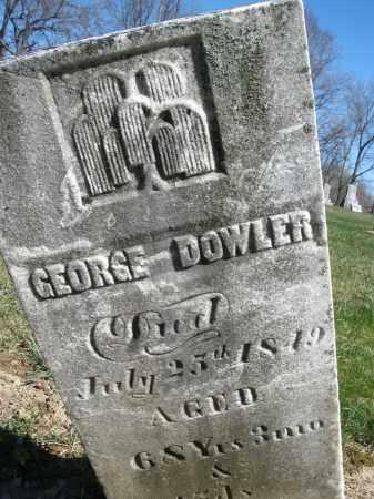 DOWLER, GEORGE - Preble County, Ohio | GEORGE DOWLER - Ohio Gravestone Photos