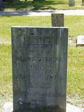 DUGGINS, JANE - Preble County, Ohio | JANE DUGGINS - Ohio Gravestone Photos