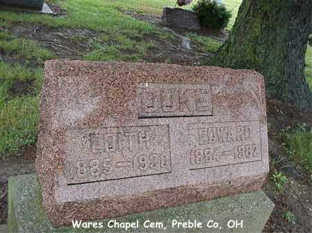 DUKE, EDITH - Preble County, Ohio | EDITH DUKE - Ohio Gravestone Photos