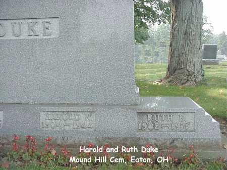 DUKE, RUTH - Preble County, Ohio   RUTH DUKE - Ohio Gravestone Photos