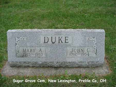 VERES DUKE, MARY - Preble County, Ohio | MARY VERES DUKE - Ohio Gravestone Photos