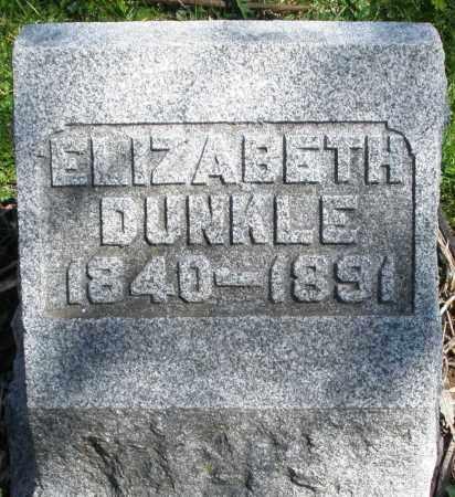 DUNKLE, ELIZABETH - Preble County, Ohio | ELIZABETH DUNKLE - Ohio Gravestone Photos