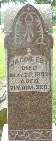 EBY, JACOB - Preble County, Ohio | JACOB EBY - Ohio Gravestone Photos