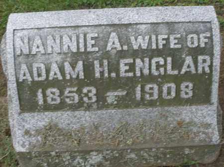 ENGLAR, NANNIE A. - Preble County, Ohio   NANNIE A. ENGLAR - Ohio Gravestone Photos