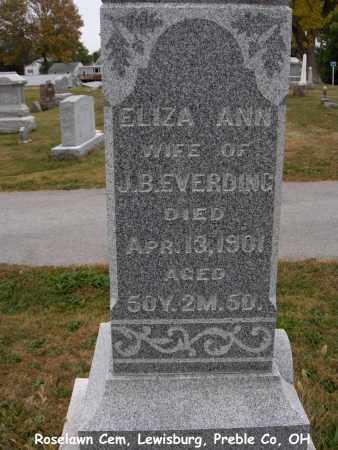 KAYLOR EVERDING, ELIZA - Preble County, Ohio   ELIZA KAYLOR EVERDING - Ohio Gravestone Photos