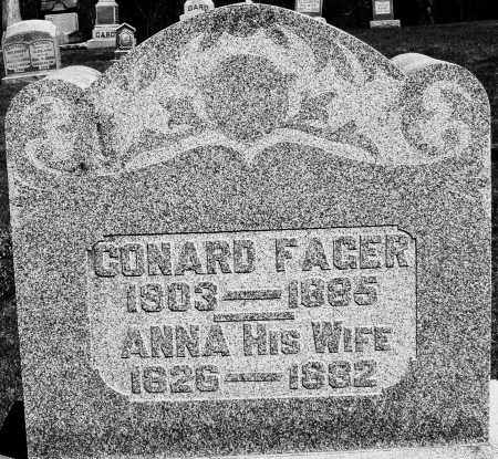 FAGER, ANNA - Preble County, Ohio | ANNA FAGER - Ohio Gravestone Photos