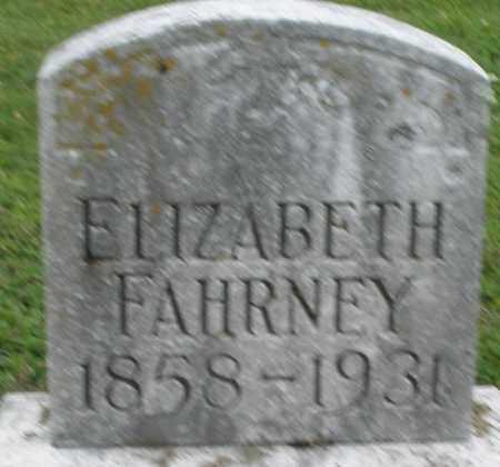 FAHRNEY, ELIZABETH - Preble County, Ohio | ELIZABETH FAHRNEY - Ohio Gravestone Photos
