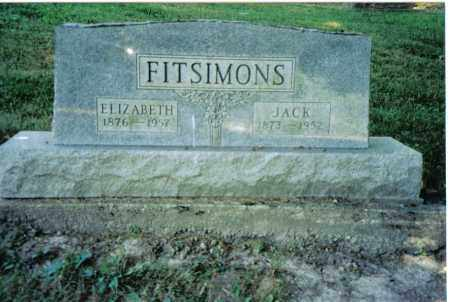 FITSIMONS, ELIZABETH - Preble County, Ohio | ELIZABETH FITSIMONS - Ohio Gravestone Photos