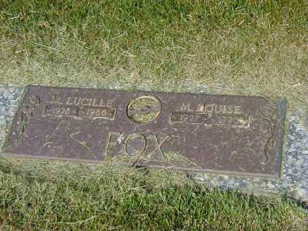 FOX, M. LUCILLE - Preble County, Ohio | M. LUCILLE FOX - Ohio Gravestone Photos