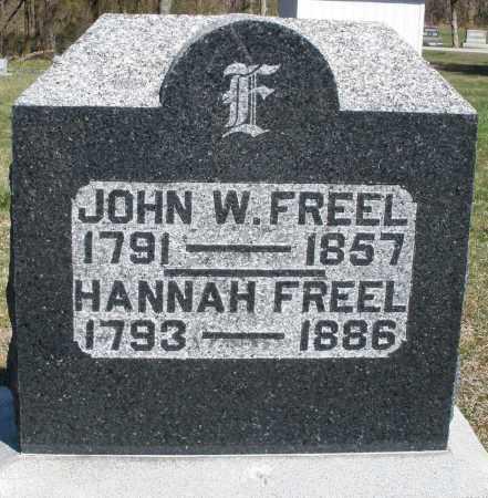 FREEL, HANNAH - Preble County, Ohio | HANNAH FREEL - Ohio Gravestone Photos