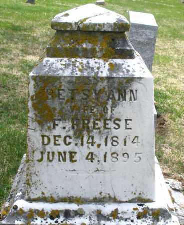 FREESE, BETSY ANN - Preble County, Ohio   BETSY ANN FREESE - Ohio Gravestone Photos