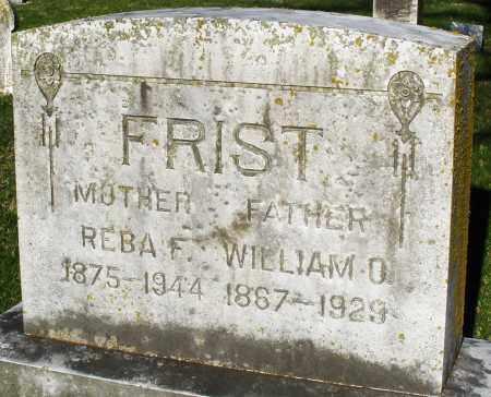 FRIST, WILLIAM - Preble County, Ohio | WILLIAM FRIST - Ohio Gravestone Photos