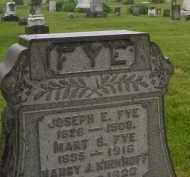 FYE, JOSEPH E - Preble County, Ohio | JOSEPH E FYE - Ohio Gravestone Photos
